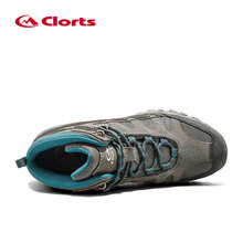 Clorts Men Hiking Shoes Mid-cut Cow Suede Hiking Boots Rubber Sport Trekking Shoes for Men HKM-823