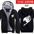 New Arrive  Anime Fairy Tail Hoodie Winter Mens Thick Zipper Sweatshirt Cotton Fleece Coat Hooded Cosplay Warm