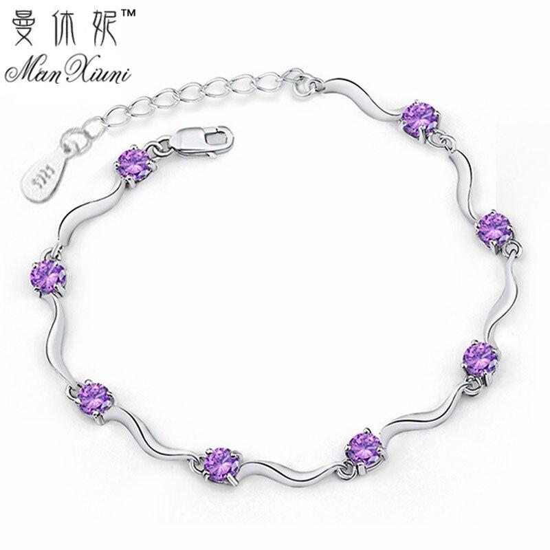 Fashion Cubic Zircon Crystal Bracelet for Women
