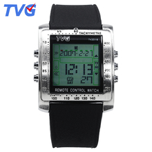 TVG Fashion Men Sports Watches Smart Remote Military Watch LED Digital Watch Men Alarm Waterproof Wrist Watch Relogio Masculino