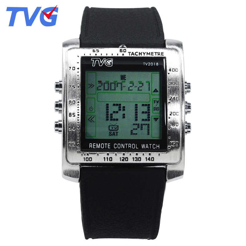TVG Fashion Men Sportklockor Smart Remote Militärklocka LED Digital Watch Men Alarm Vattentät Armbandsur Relogio Masculino