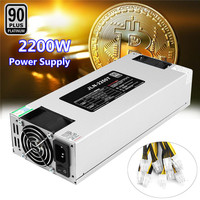 93 PLUS Efficiency Automatic 1600W 2200W ETH BTC Mining Power Supply For AntMiner A6 A7 L3