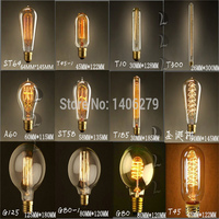 Free Shipping Vintage Retro DIY E27 Spiral Incandescent Light Handmade Fixtures Glass LED Edison Bulb 40W