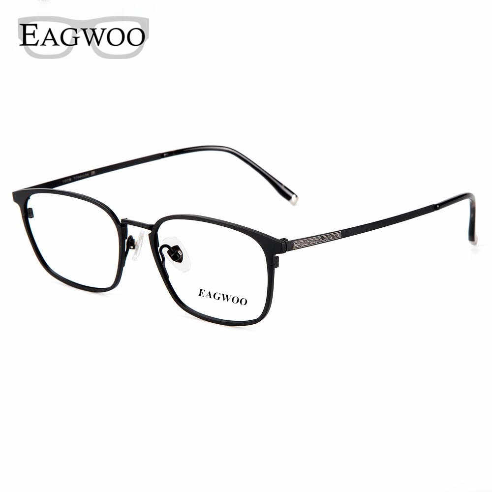 Pure Titanium Eyeglasses Metal Full Rim Optical Frame Prescription Spectacle Contrast Color Glasses For Men Eye Glasses New 5813