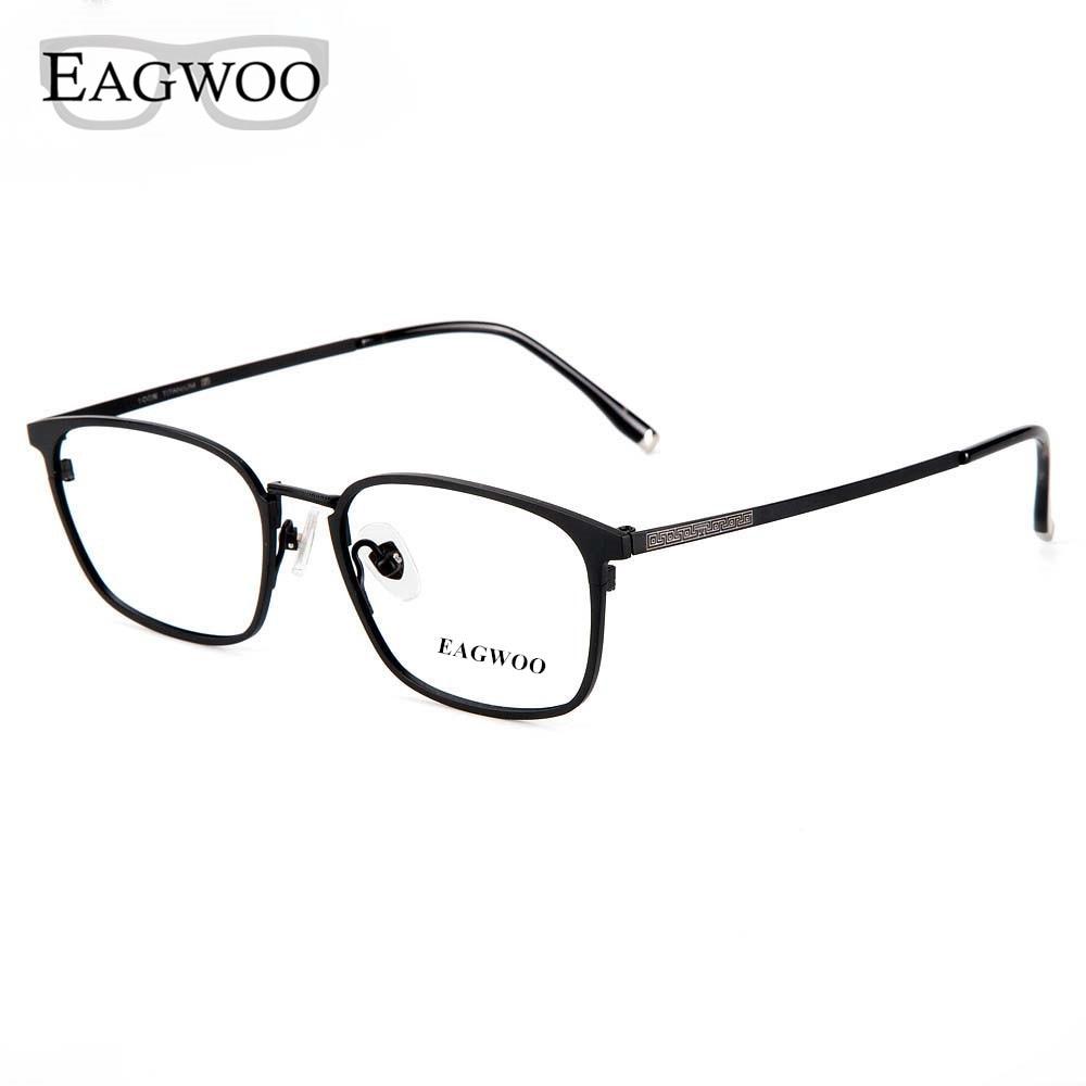 Puro titanium óculos de metal aro cheio quadro ótico prescrição espetáculo contraste cor óculos para homens olho óculos novo 5813