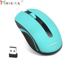 Ecosin2 Mosunx 2.4GHz USB Wireless Optical Gaming Mouse 1600DPI Mice For Laptop Desktop PC Power switch for save power 17mar16