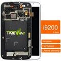 2 pcs 2015 nova venda fly tela capacitiva para samsung mega 6.3 I9200 Tela Lcd Com Toque Digitador + Montagem de quadro de 100% nova