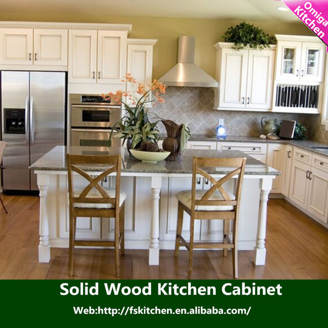 Country Style Kitchen Cabinet Door Kitchen Trolley Cabinet Oak Solid