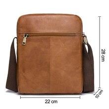 New Arrival Genuine Leather Bolsa Men's Shoulder Bag