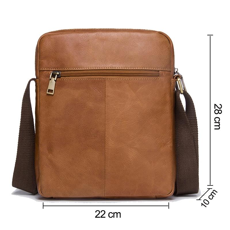 CONTACT'S 2018 nouveauté en cuir de vachette véritable Bolsa sacs à bandoulière pour hommes sacs à bandoulière pour hommes sac Messenger sac de Style masculin - 2