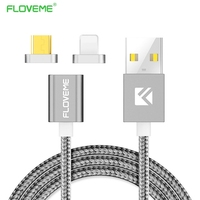 FLOVEME Magnetic USB Cable For IPhone 5 6 7 Charger Cable Magnetic Charging Cable For Samsung
