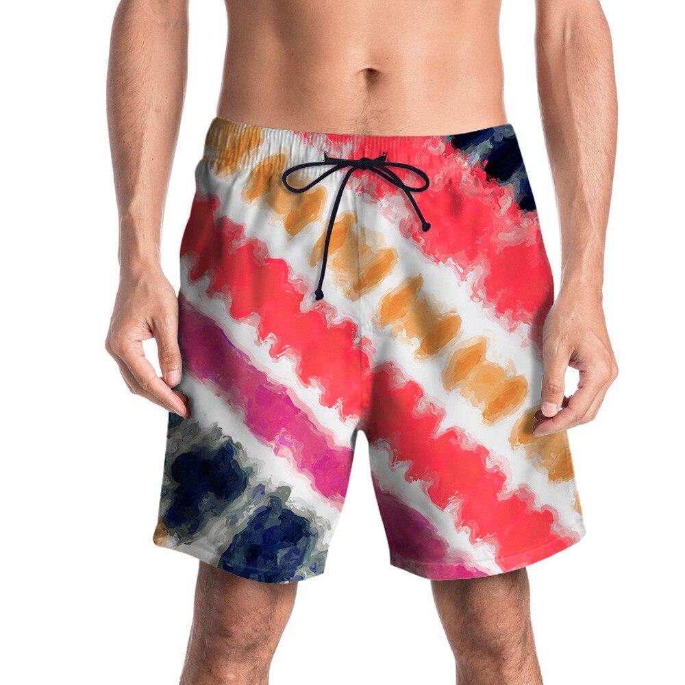 Men Casual 3D Cloud Printed Beach Work Casual Men   Short   Straight Loose Men's   Board     Shorts   maillot de bain stroj kapielowy #by