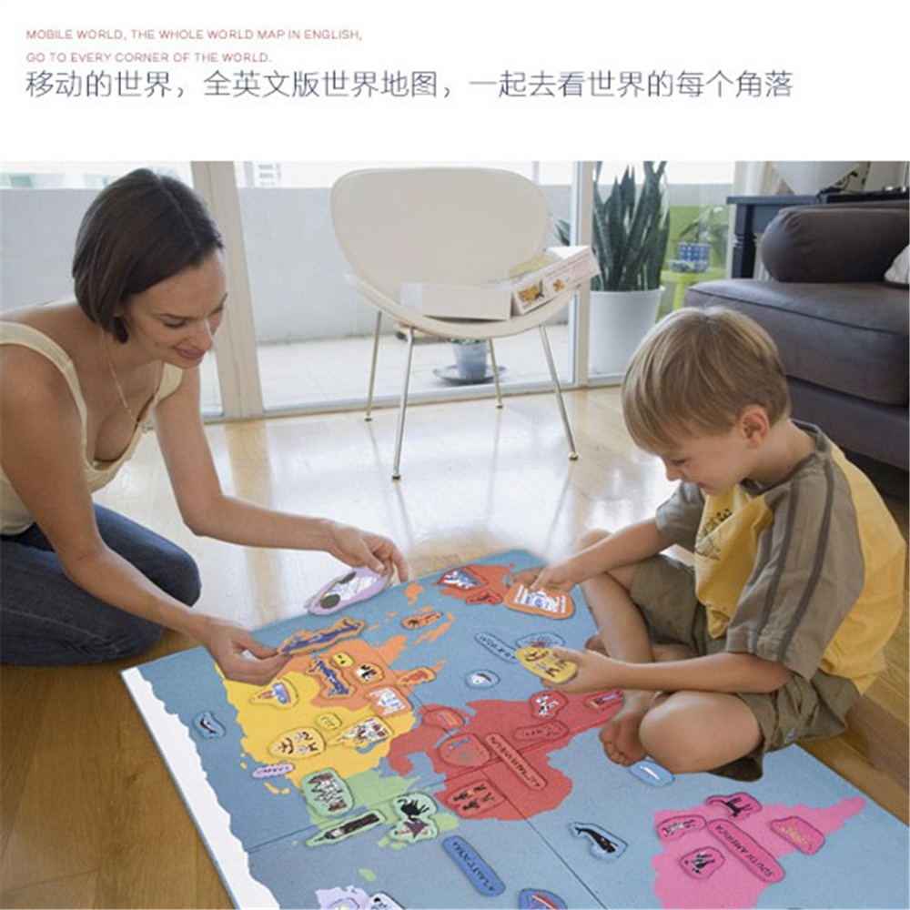Montessori usa puzzle map picture ideas references 131 pcs magnetic fun hello world map gumiabroncs Images