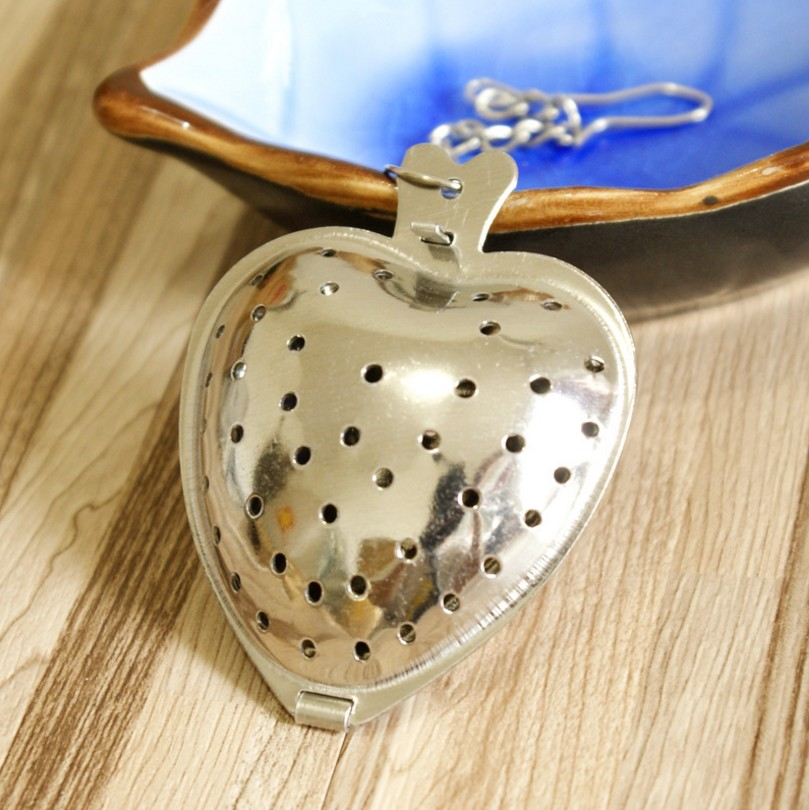 Stainless Steel Heart Tea Strainer Infuser Filter Herb Steeper Tea Tools Accessories