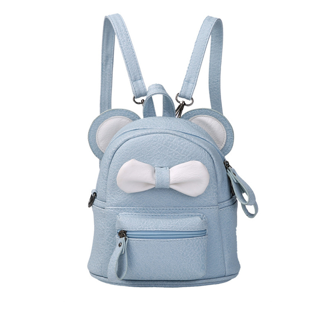 2acdde233 Cartoon Cute Kids Bags Bow PU Leather Small Backpack Girls Travel Backpacks  Girl Schoolbag Back Pack