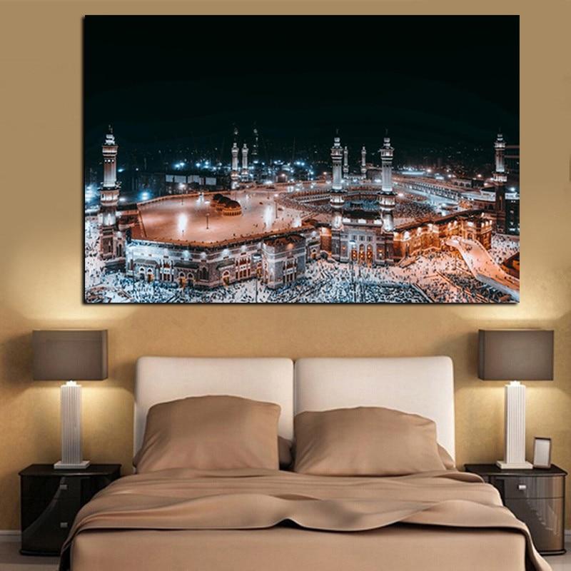Moderne Pelegrinazhi Islam në Peizazhin e Natës së Xhamisë së - Dekor në shtëpi - Foto 6