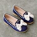Весна дети обувь дети девочки кожа один обувь мокасины принцесса сникер обувь бант мягкий подошва сандалии обувь