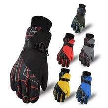 Ski Gloves for Children Winter Thick Warm Waterproof Gloves Boys Skis Snowboard Snowmobile Skiing Gloves Girls Ski Snow Glove