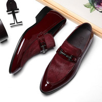 men's shoes pring 2019 new dress British business set foot first layer leather men's shoes genuine leather formal Yasilaiya