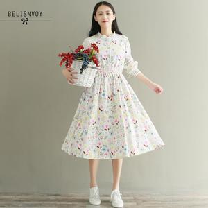 Image 3 - Mori menina outono inverno feminino robe babados veludo vestidos de festa manga longa lindo doce floral impresso vestidos femininos