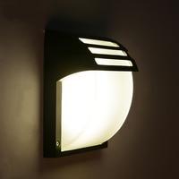 Outdoor Light LED Wall Lamps Simple Waterproof Garden Villa Loft Balcony Black Iron Glass Lighting Wall