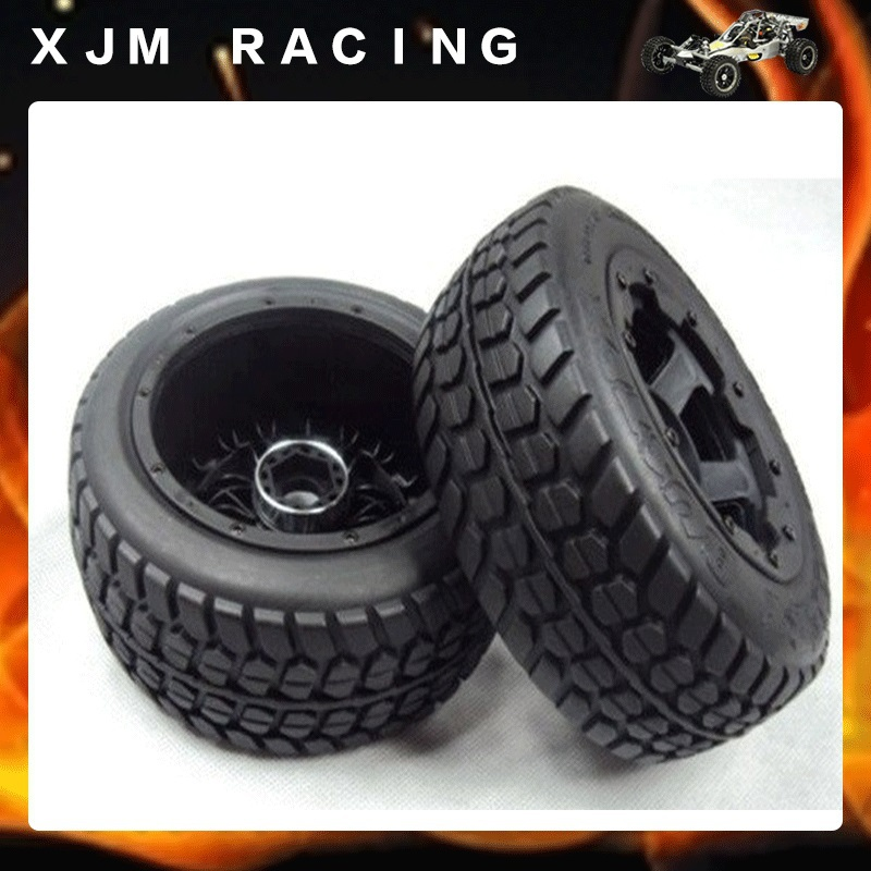 Front highway-road wheel tire( x 2pcs/set )for 1/5 scale hpi rovan baja 5T front sand buster tyres tire set with nylon wheel 2pcs for baja 5b hpi km rovan