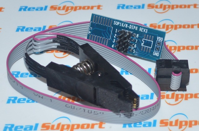 Programmer Testing Clip SO8 SOP8 SOIC8 Pin IC Test Clamp with cable