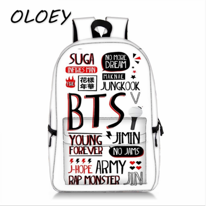 BTS Backpack Galaxy School Bags Pictures Bookbag Children Fashion Shoulder Bag Students Backpack Travel Bag for teenagers game of thrones backpack students school bag fire glow in light backpack book bag for teenagers cartoon shoulder bag casual bag