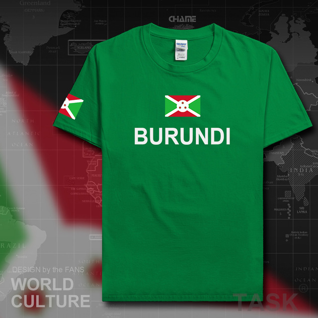 Burundi Burundian men t shirt jerseys nation team tshirt 100 cotton t-shirt new Short Sleeve country sporting clothing BDI