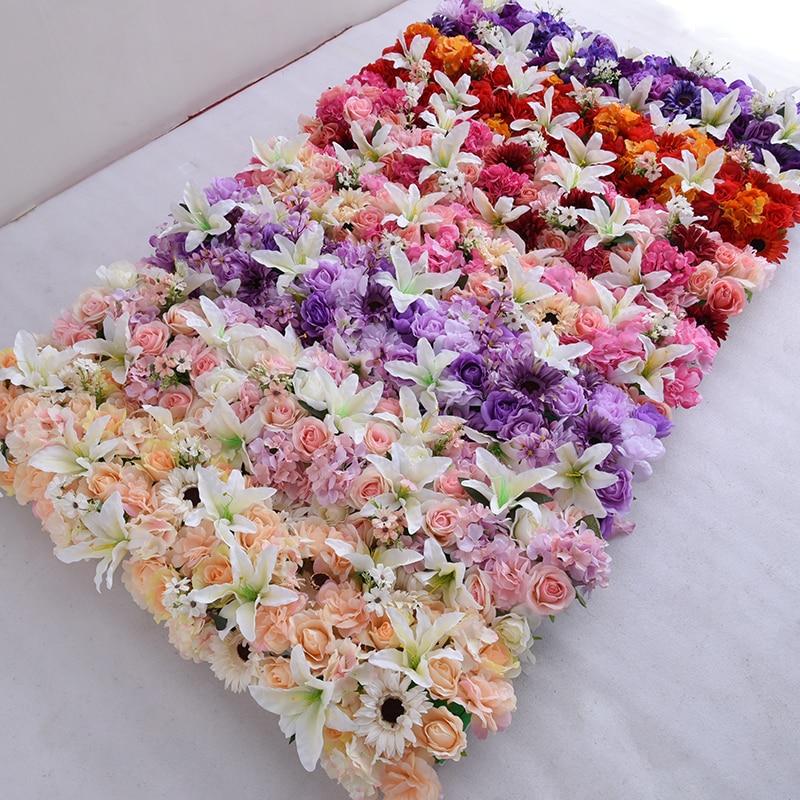 1 M mariage luxe route cité fleurs artificielles Rose lys hortensia bricolage porte arquée fleur rangée T Station noël mur personnalisé - 6
