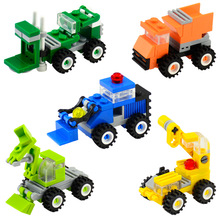 Mini Bricks City Series DIY Assembly Car Truck Crane font b Construction b font Vehicles Educational