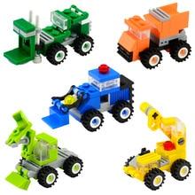 Mini Tijolos Cidade Série Caminhão Guindaste de Construção de Veículos Do Carro DIY Montagem Educacional Blocos de Construção de Brinquedos Para As Crianças 2018