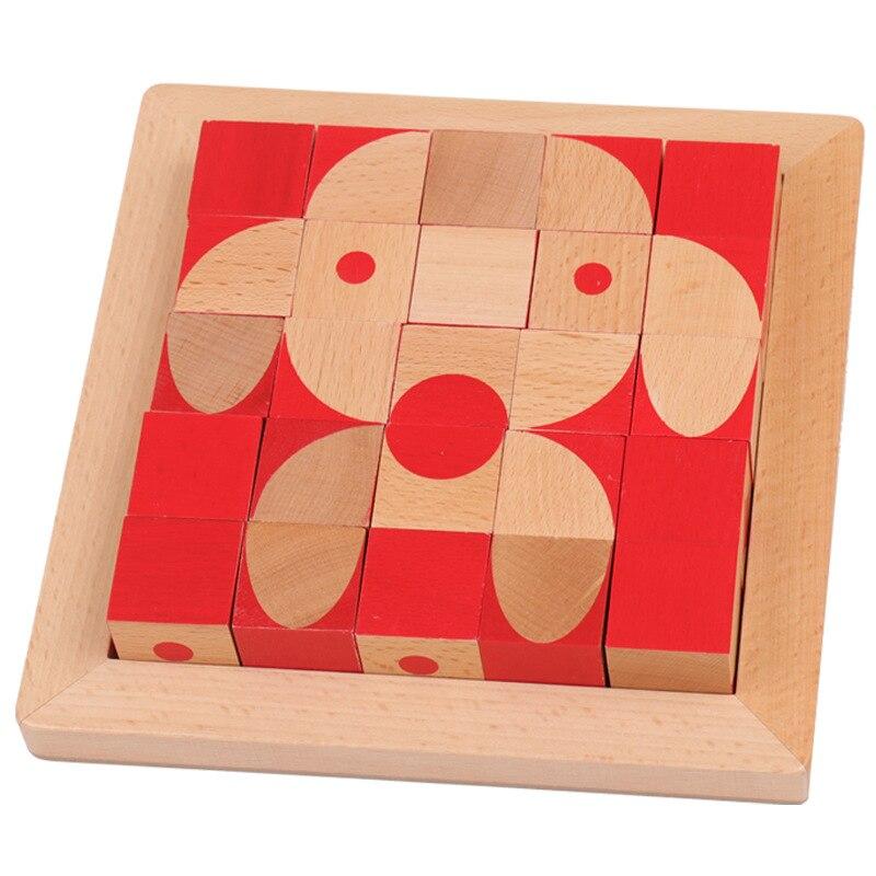 En bois jouets éducatifs pour enfants assemblés hêtre 3D en trois dimensions puzzle jouet Montessori éducation précoce puzzle Jouets