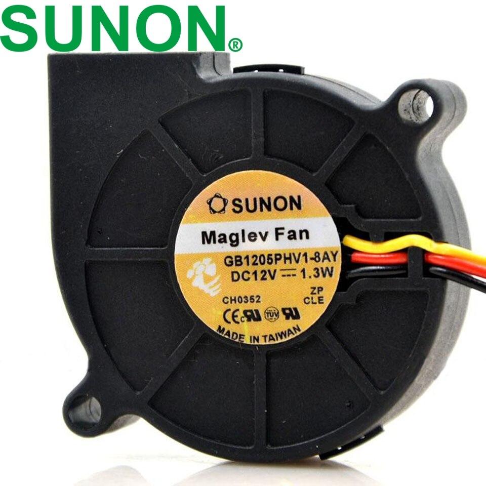 1pcs GB1205PHV1-8AY 12V 1.3W 5015 5CM Three-line Turbo Cooling Fan