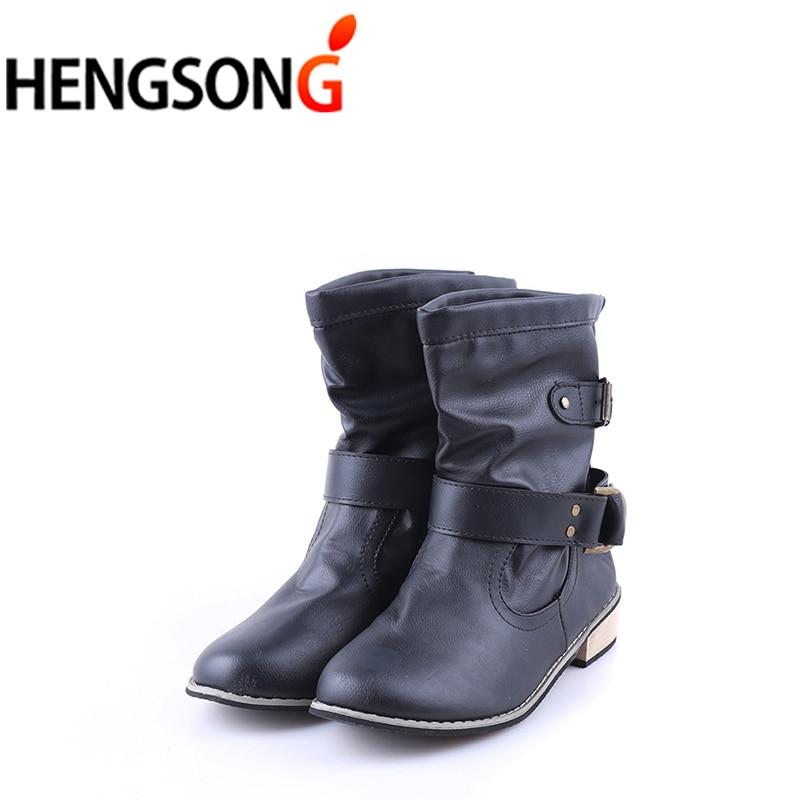 Марка искусственная кожа мотоботы Байкерская обувь Для женщин готический панк combot пинетки ботинки на платформе женские ботильоны pa910307