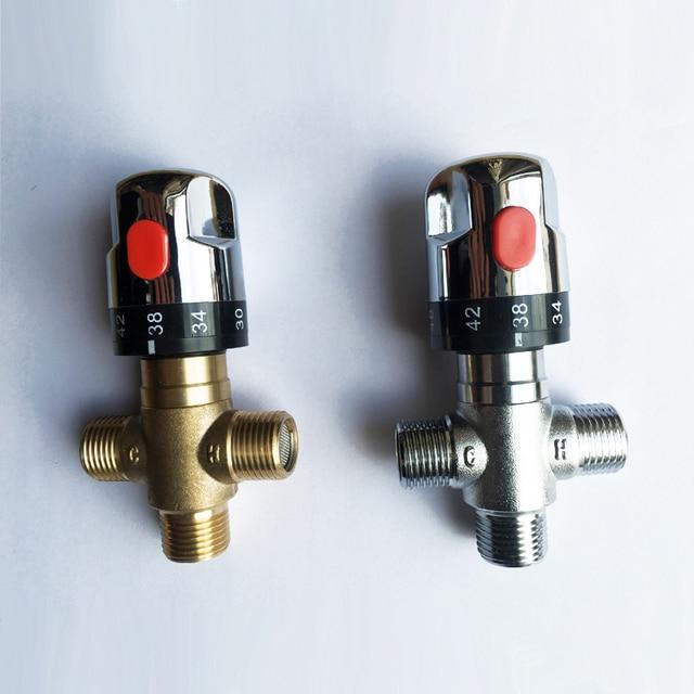 """1/2 """"אינץ צינור פליז DN15 לשלוט על טמפרטורת מים ערבוב תרמוסטטי ערבוב Valve לדוד שמש מיקסר אמבטיה"""