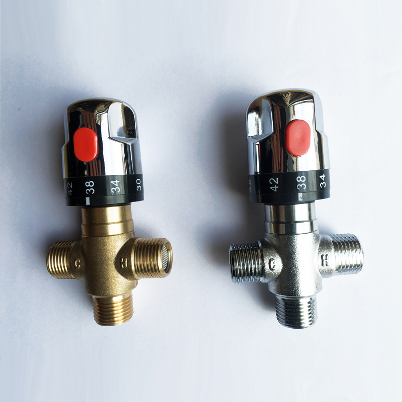 "Aliexpress Com Buy Brand New Brass Control Mixing Valve: 1/2"" Inch DN15 Brass Control The Mixing Water Temperature"