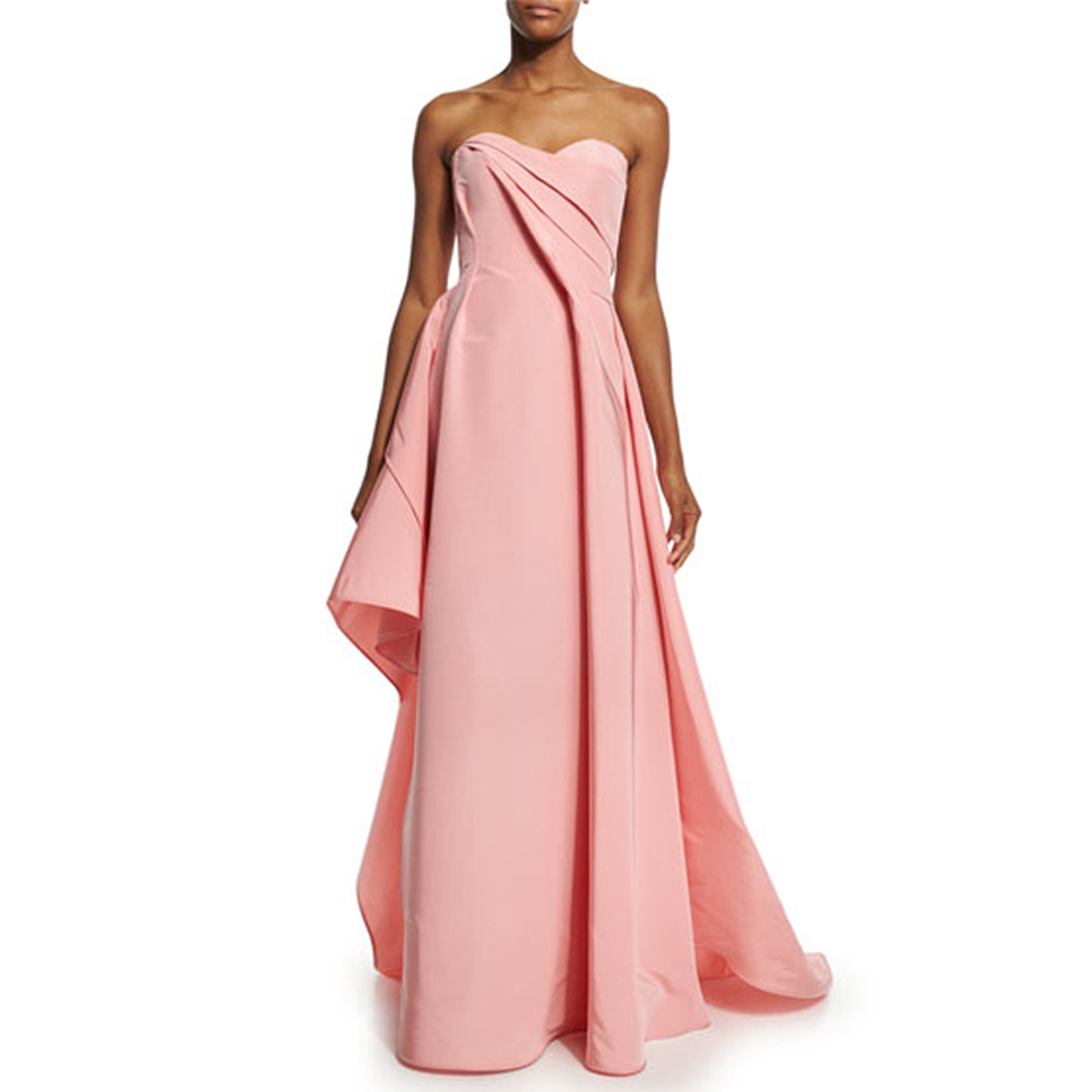 Sexy 2017 Cheap Wedding Party   Dress   Maid of Honer wedding Guest   dress   Sweetheart Satin Pleated Long Formal   Bridesmaid     Dresses