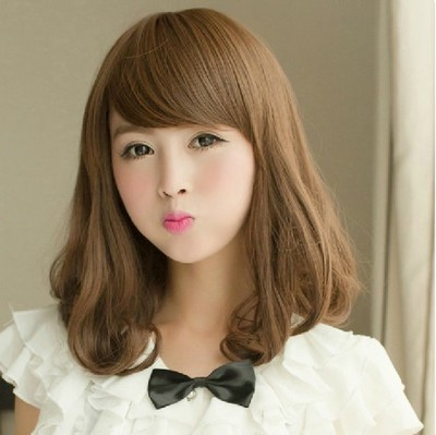 Short Curly Hair With Bangs Girls 89