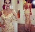 2016 сексуальная золотой русалка вечера вечернее ну вечеринку платье бальное платье бесплатная доставка