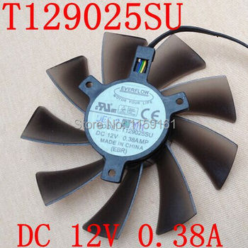 Free Shipping EVERFLOW HD7970 HD7950 GTX680 ENGTX580 DCII T129025SU for ASUS graphics card fan image