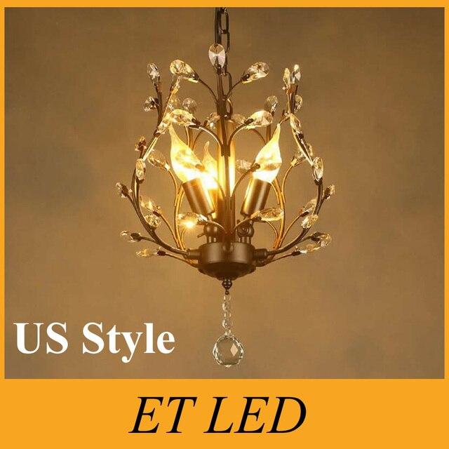 USA Stil 3*5 watt E14 LED Moderne Kristall kronleuchter Leuchte LED ...