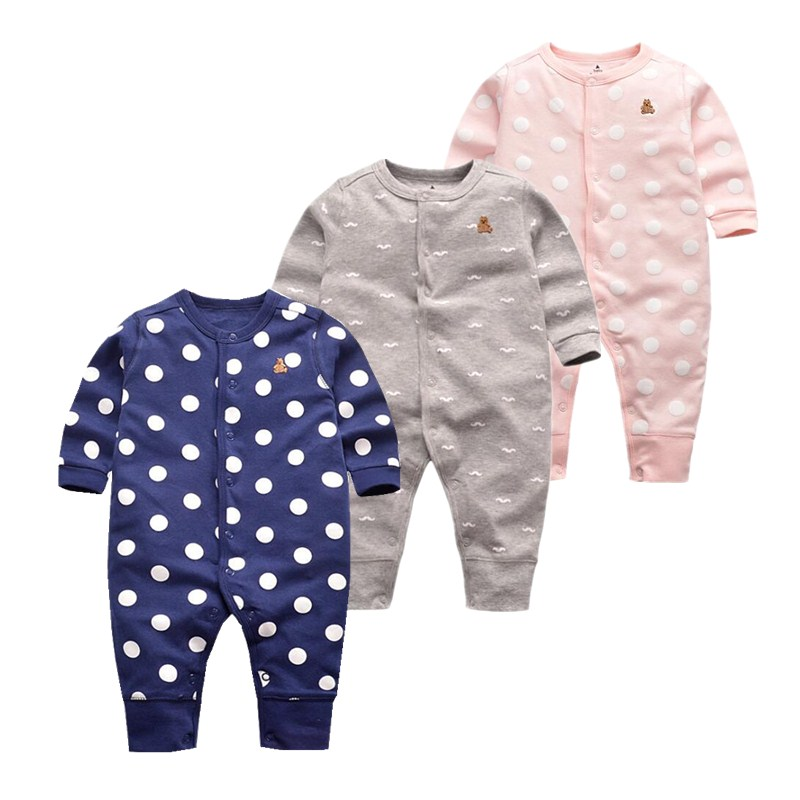 2017 new fashion Baby rompers 100% cotton Pajamas & sleepwear clothing for newborn - 24M infant Jumpsuit soft baby suit costumes newborn baby rompers baby clothing 100% cotton infant jumpsuit ropa bebe long sleeve girl boys rompers costumes baby romper