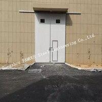 Секционные промышленные горизонтальные раздвижные двери с доступом дверь для персонала для мастерской