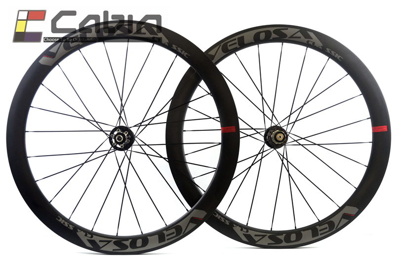 Outlet Velosa Disc 50mm 700C road bike disc brake carbon hookless wheel 50mm clincher tubular cyclocross