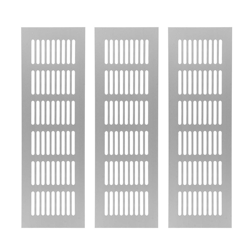 3/6pcs Metal Air Vent Grille For Wardrobe Shoes Cabinet Sink Kitchen Stove Cabinet Showcase Computer Cabinet Bathroom Door Vent