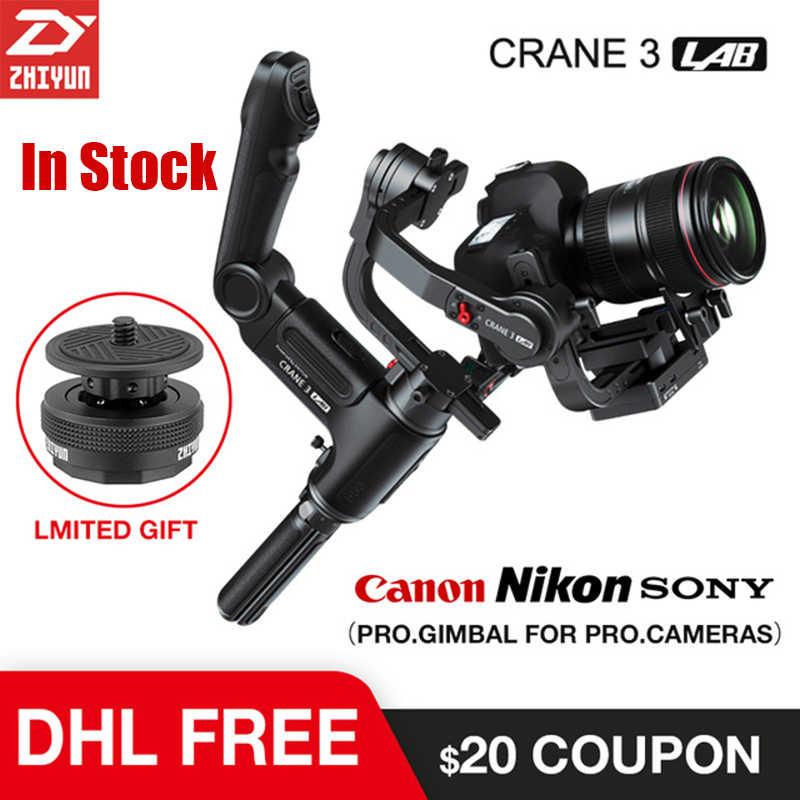 Zhiyun Crane 3 Lab 3 axis Gimbal Stabilizer for Nikon D850 gimbal dslr  camera Sony A9 A7R Canon 1DX Mark II 5D 6D gh5 PK Crane 2