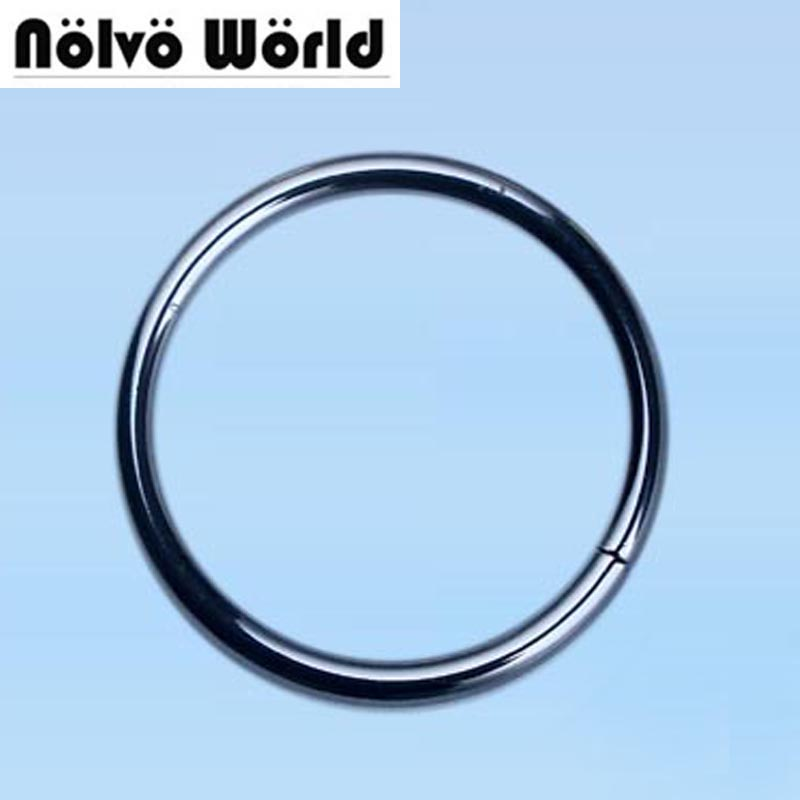 50PCS No welded circle rings inner 50mm 2 inch 5.0mm line gunmetal big circle ring connect alloy metal shoes bags Belt Buckles  рулетка x line metal 50