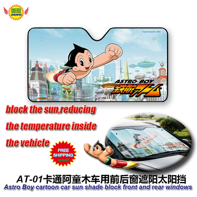 car accessories Cartoon Astro Boy front window sunshade Foils Windshield Visor Cover UV Protect Car Film  AT-1 Freeshiping