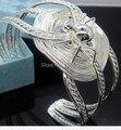 2014 New Fashion design lbig spider  design  logo 925  silver jewelry women bracelet NB0100